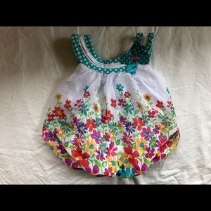 Baby top with floral design